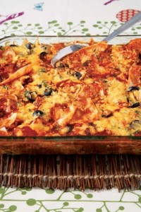 Chicken Enchilasagna
